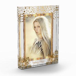 Decorative White & Gold Confetti - DIY Photo