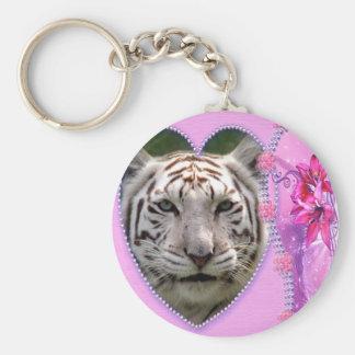 Decorative White Tiger Key Chains