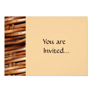 Decorative Wicker Basket Look Personalized Invitations