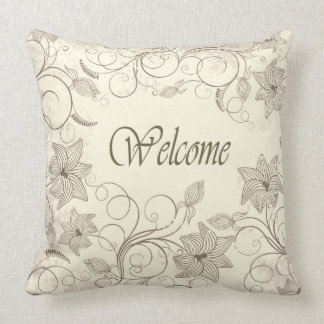 Decorative with Flowers Grade A Cotton Throw Pillo Throw Pillow