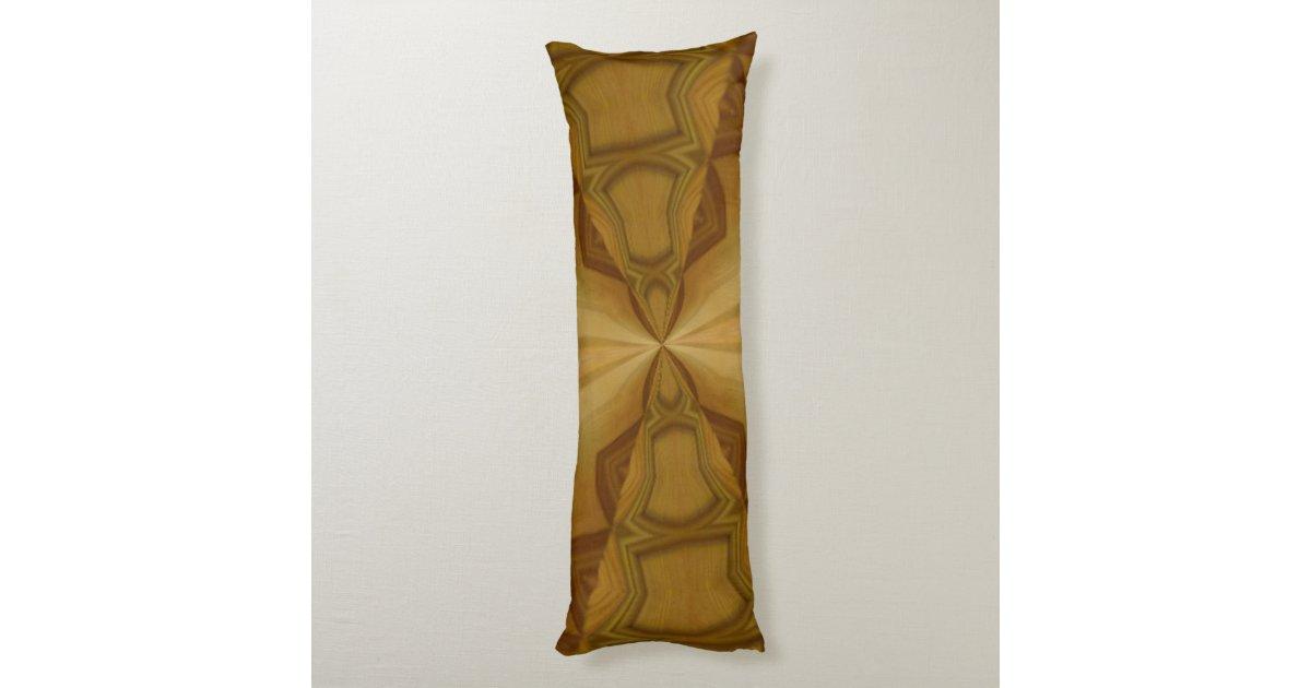 Decorative wood pattern body pillow Zazzle