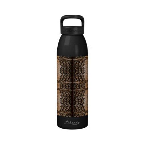 Decorative Wooden Pattern Reusable Water Bottle