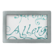 Decorative Word Allergy2 Belt Buckle