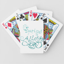Decorative Word Allergy2 Bicycle Playing Cards