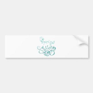 Decorative Word Allergy2 Bumper Sticker