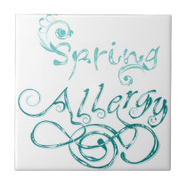 Decorative Word Allergy2 Ceramic Tile