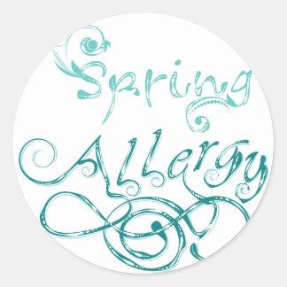 Decorative Word Allergy2 Classic Round Sticker