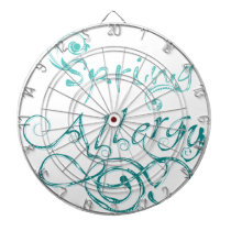 Decorative Word Allergy2 Dartboard With Darts