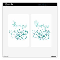Decorative Word Allergy2 Decal For Kindle Fire