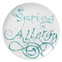 Decorative Word Allergy2 Dinner Plate