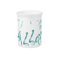 Decorative Word Allergy2 Drink Pitcher