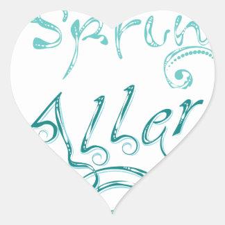 Decorative Word Allergy2 Heart Sticker