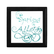 Decorative Word Allergy2 Keepsake Box