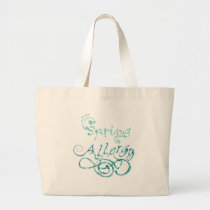 Decorative Word Allergy2 Large Tote Bag