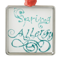 Decorative Word Allergy2 Metal Ornament