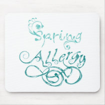 Decorative Word Allergy2 Mouse Pad