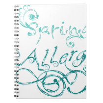 Decorative Word Allergy2 Notebook
