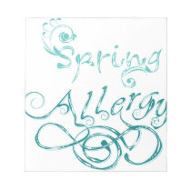 Decorative Word Allergy2 Notepad