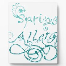 Decorative Word Allergy2 Plaque