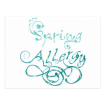 Decorative Word Allergy2 Postcard
