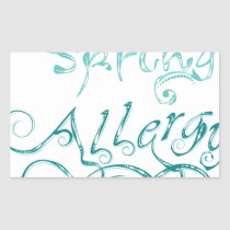 Decorative Word Allergy2 Rectangular Sticker