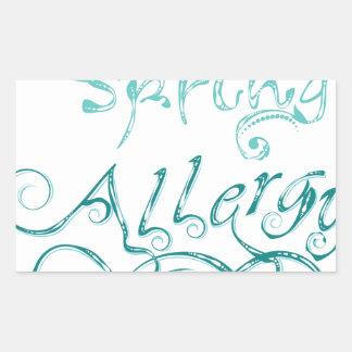 Decorative Word Allergy2 Rectangular Sticker
