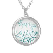 Decorative Word Allergy2 Silver Plated Necklace
