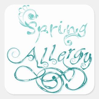 Decorative Word Allergy2 Square Sticker