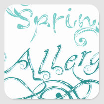 Decorative Word Allergy2 Square Sticker