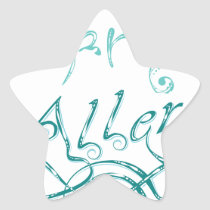 Decorative Word Allergy2 Star Sticker