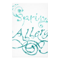Decorative Word Allergy2 Stationery