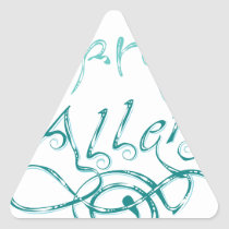 Decorative Word Allergy2 Triangle Sticker