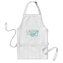 Decorative Word Allergy Adult Apron