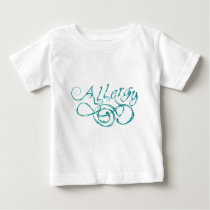 Decorative Word Allergy Baby T-Shirt