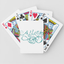 Decorative Word Allergy Bicycle Playing Cards