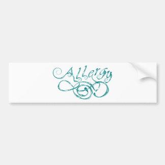 Decorative Word Allergy Bumper Sticker