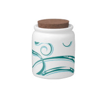 Decorative Word Allergy Candy Jar