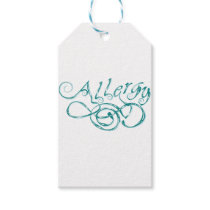 Decorative Word Allergy Gift Tags