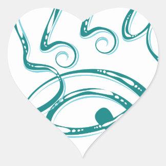 Decorative Word Allergy Heart Sticker