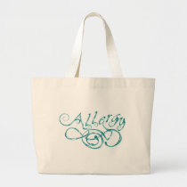 Decorative Word Allergy Large Tote Bag