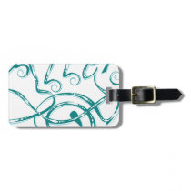 Decorative Word Allergy Luggage Tag