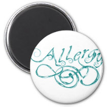 Decorative Word Allergy Magnet