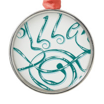 Decorative Word Allergy Metal Ornament