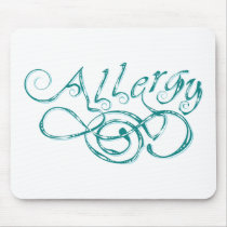Decorative Word Allergy Mouse Pad