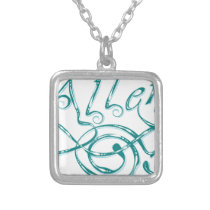 Decorative Word Allergy Silver Plated Necklace