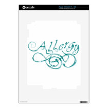 Decorative Word Allergy Skin For iPad 2
