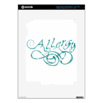 Decorative Word Allergy Skin For iPad 3