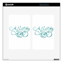 Decorative Word Allergy Skin For Kindle Fire