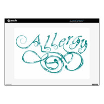 Decorative Word Allergy Skin For Laptop