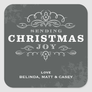 DECORATIVE WRAP LABEL :: sending christmas joy 3
